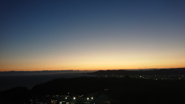 日本平で観た夕暮れ